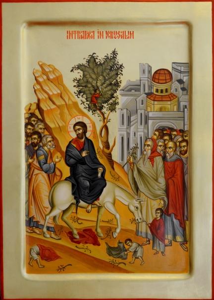 Icoana pictata - Intrarea in Ierusalim