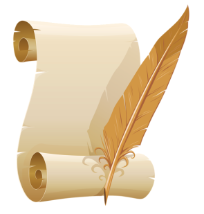 feather-pen-and-paper-png-scrolled-paper-and-quill-pen-png-clipart-image-572